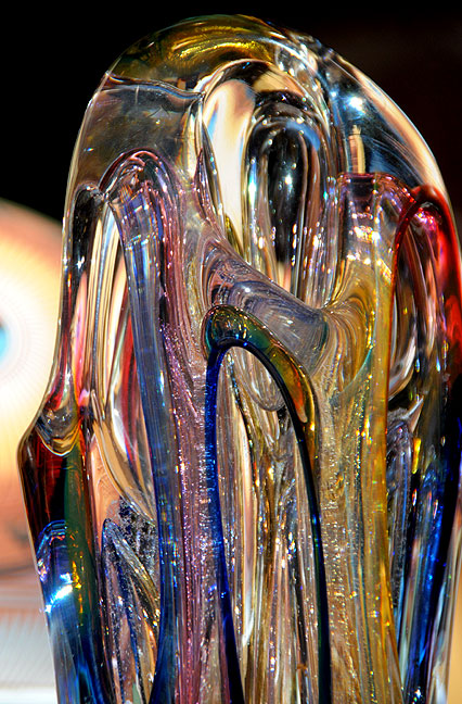 Abby photographed this beautiful glass sculpture at a shop in Santa Fe.