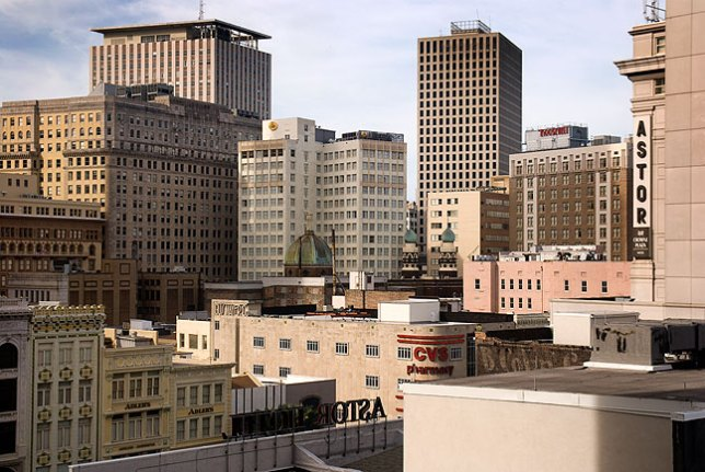 This was the view from our downtown New Orleans Hotel.