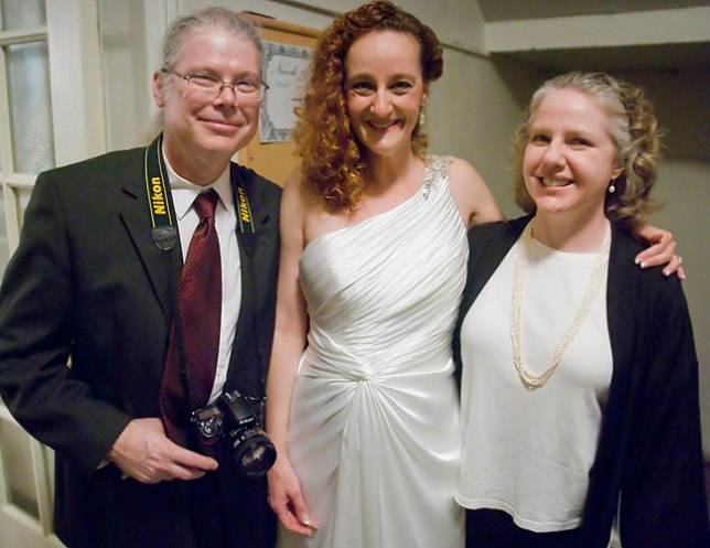 As we were leaving, Michael and Thea wanted to be photographed with Nicole; Michael's images of this event were an excellent addition to mine and Abby's.
