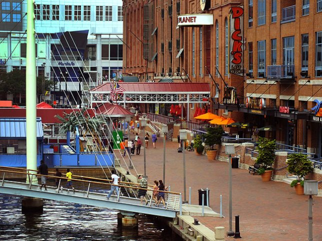 """Baltimore's Inner Harbor area is visually complex, and on my """"go back"""" list."""