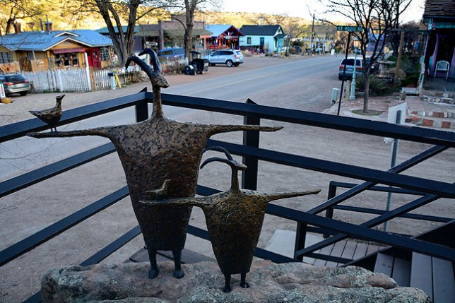 Since much of Madrid, New Mexico is based on the artistic community attracting tourism, statues like this abound.