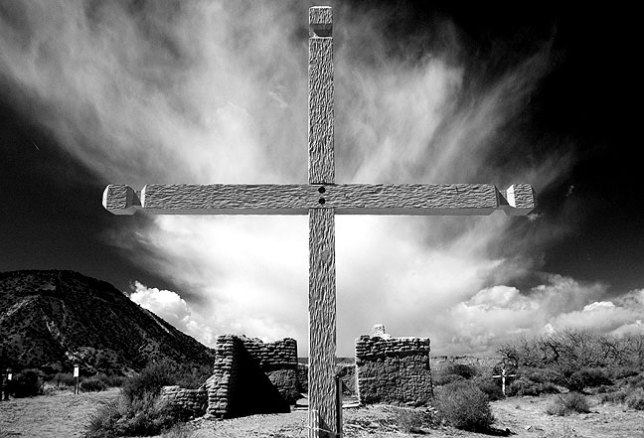 I thought this image made at the Santa Rosa de Lima Church Ruins in north central New Mexico to possibly be the strongest piece of the week, so I save it for last. The light, sky, and composition summon recollections of some of the best photography from throughout the history of New Mexico.