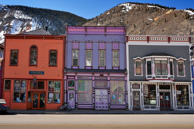 Silverton, Colorado sits above 9000 feet. The mountain light and air create outstandingly clear, beautiful scenes.