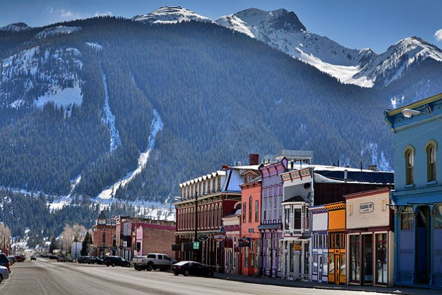 State Highway 110 forms the main street in Silverton, Colorado, which is quiet and colorful, and surrounded by exceptional natural beauty.