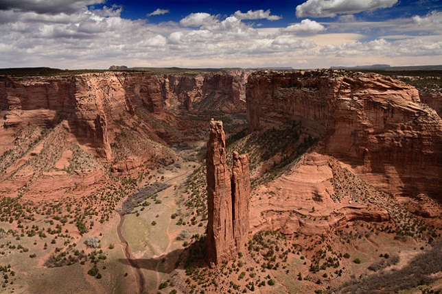 My previous images of this formation, Canyon de Chelly's Spider Rock, were less successful, but I feel this one captures the vastness of the canyon very powerfully.