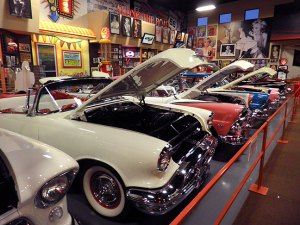 Russell's Travel Plaza features this impressive free car museum.