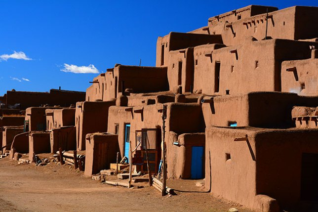 …a color rendition of the Pueblo brings out more texture.