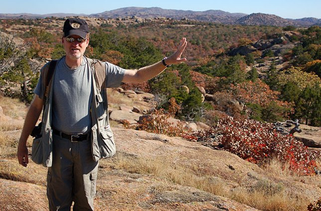 The author discusses the route to Sitting Rock.
