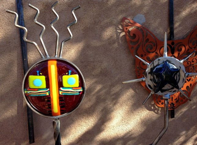 Art like this is on display all over the town of Madrid, New Mexico.