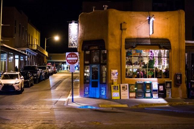 The historic Plaza at Santa Fe, New Mexico