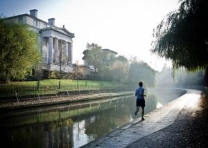 man, runner, running