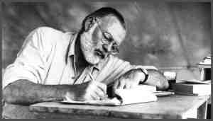 Hemingway Writing