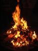 Photo of campfire at night
