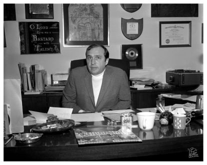 Levy in his office, c. 1969.