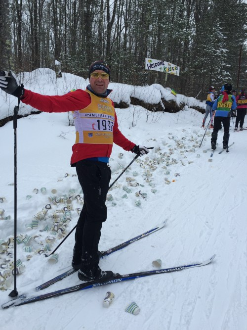 Mark Power mid race at the American Birkie