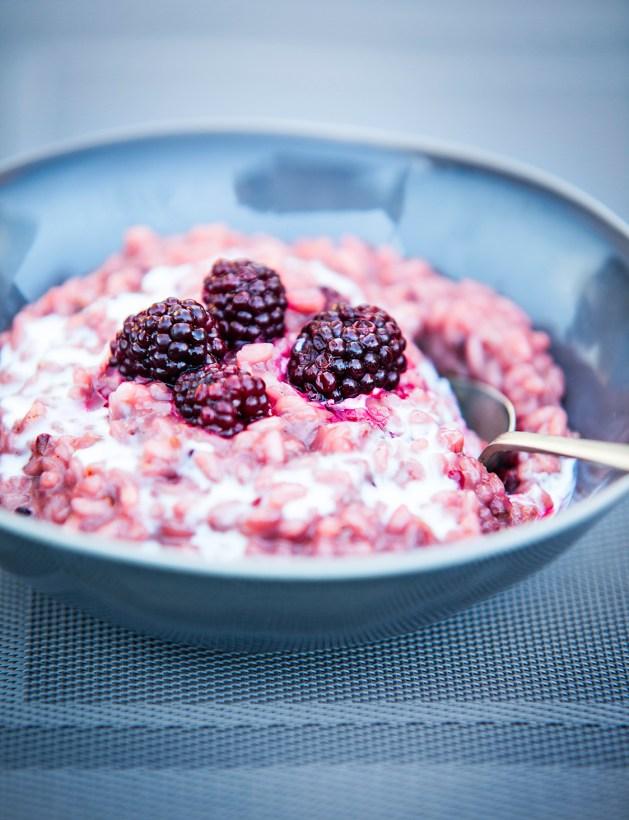 vegan blackberry risotto