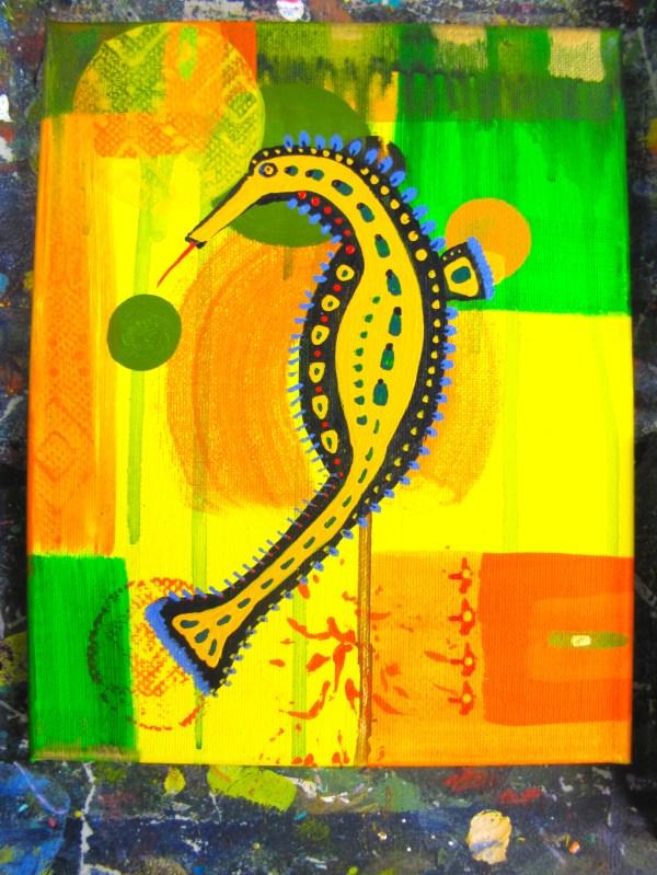 Great Day Painting Imaginary Seahorses Mclaughlin Art