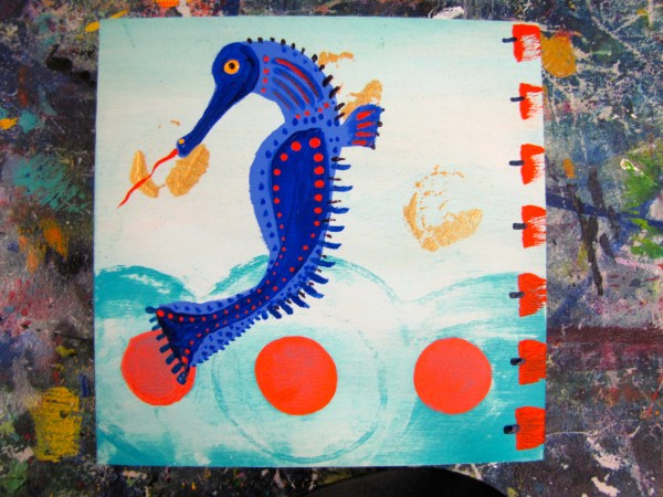 Great Day Painting Imaginary Seahorses