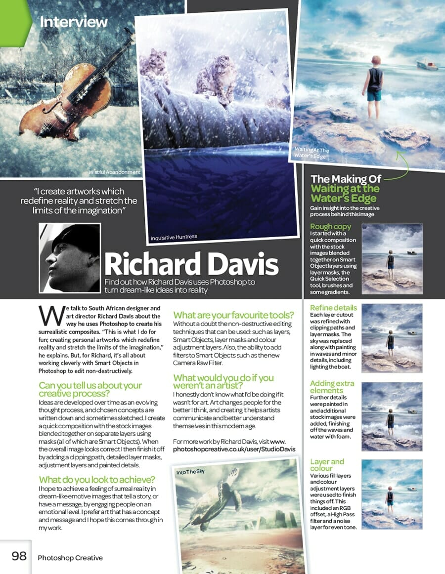 Richard George Davis Photoshop Creative Magazine issue 107 interview