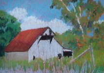"""In Schooner Valley,"" a pastel by David Owen"