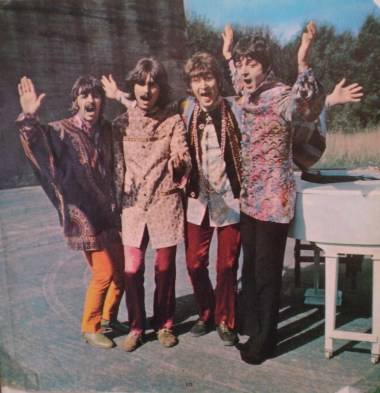 [Magical days: Mystery Tour photo.]
