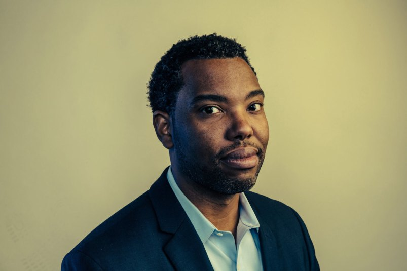 [Ta-Nehisi Coates pictured in The New Yorker. Photo by Stephen Voss/Redux.]