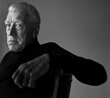"Actor Max von Sydow at the Four Seasons Hotel in Beverly Hills Friday November 09, 2007. He is currently in, ""The Diving Bell and the Butterfly""."