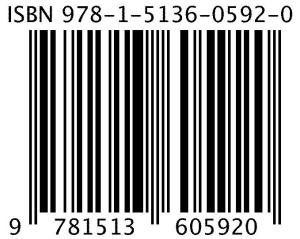 My new ISBN number and barcode