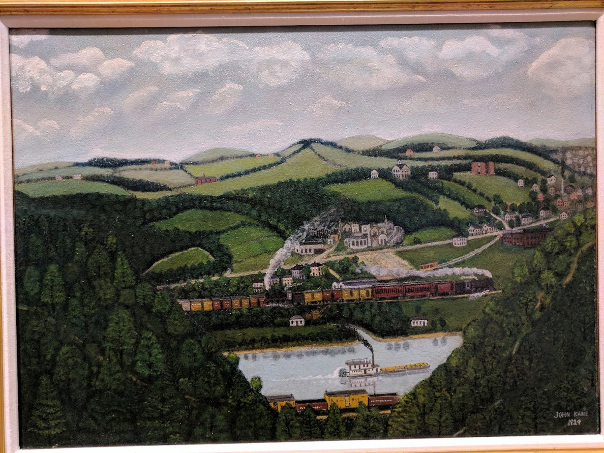 Hills and Steamboat, Sleepy Hollow by John Kane