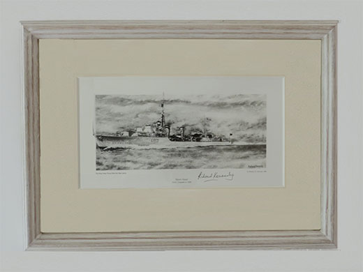 HMS Cossack Mounted and Framed