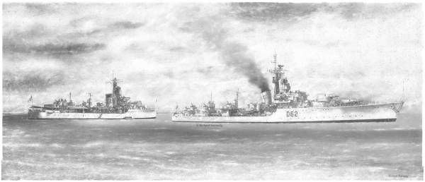 HMS Jutland and HMS Agincourt