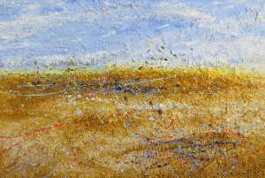 Chesil reach - Abstract painting by Richard Kennedy