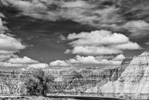 Badlands-National-Park-Interior,-SD-RKing-15-042393-BW-vv