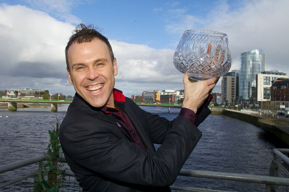 Richard winning the Limerick Person of the Year Award 2011.