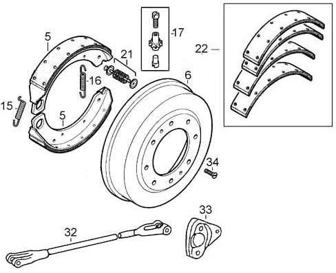 brake part,brake disc,tractor brake
