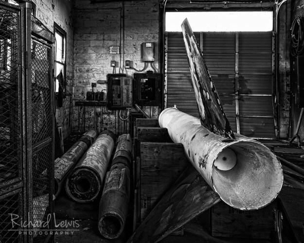 Nike Ajax Missiles Awaiting Restoration by Richard Lewis