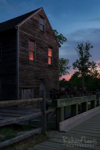 Reflecting The Afterglow in Batsto Village NJ Pinelands by Richard Lewis