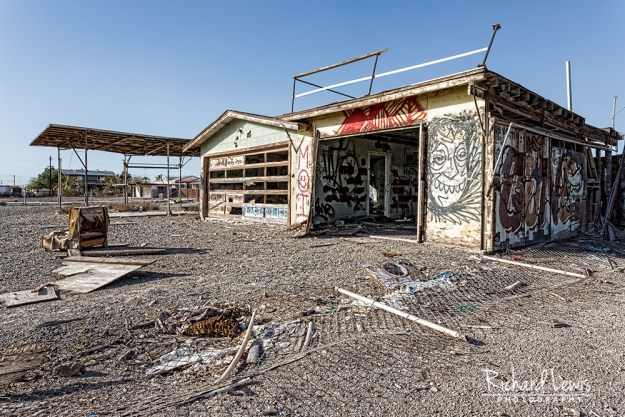 Bombay Beach Gas Station by Richard Lewis