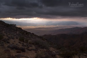 Storm Light On Palm Springs in Joshua Tree National Park