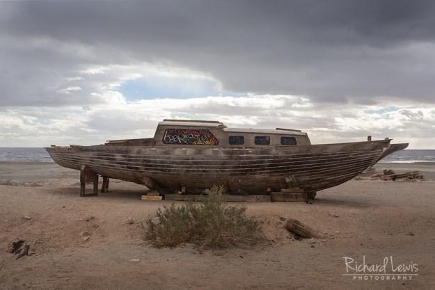 Abandoned Sailboat on Bombay Beach by Richard Lewis