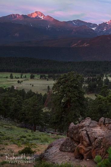 Longs Peak At Dawn Rocky Mountain National Park