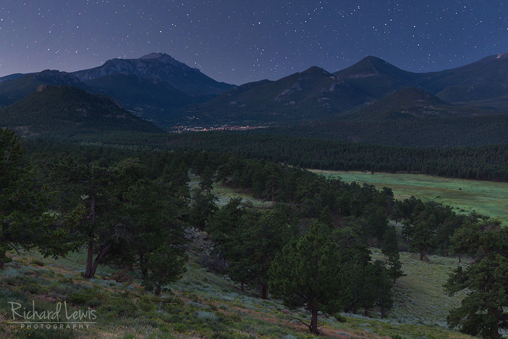 Estes Park At Night by Richard Lewis Rocky Mountain National Park