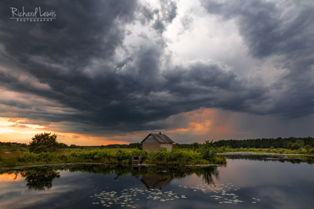 Storm At Sunset in The Pine Barrens by Richard Lewis 2018