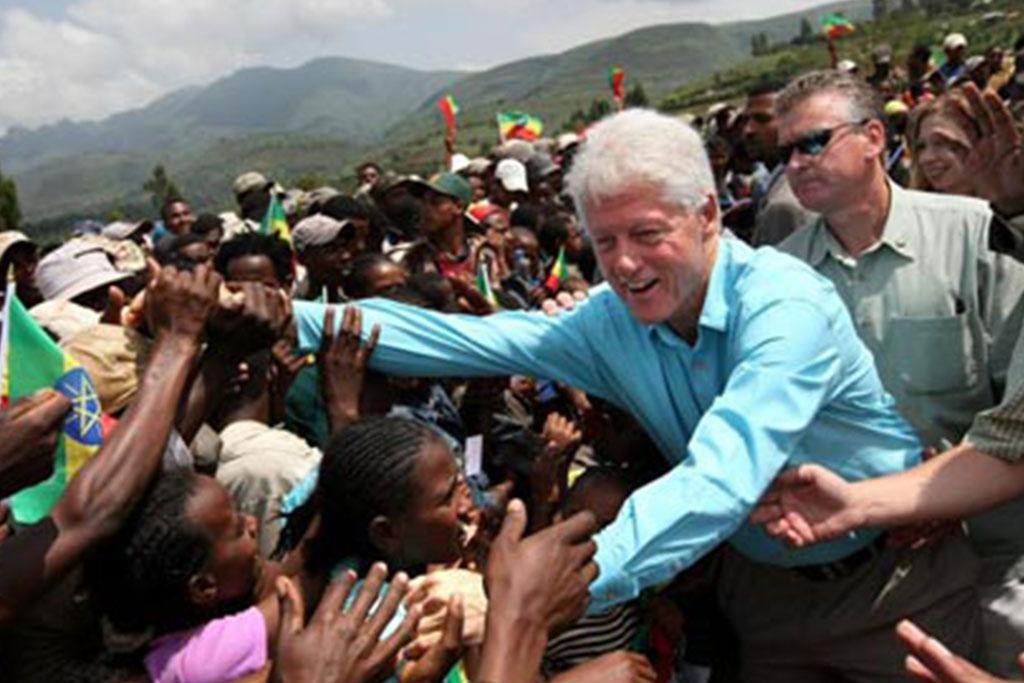 President Clinton in Ethiopia