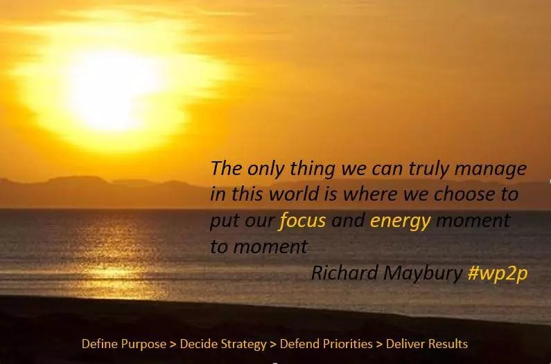 Focus and energy management #wp2p