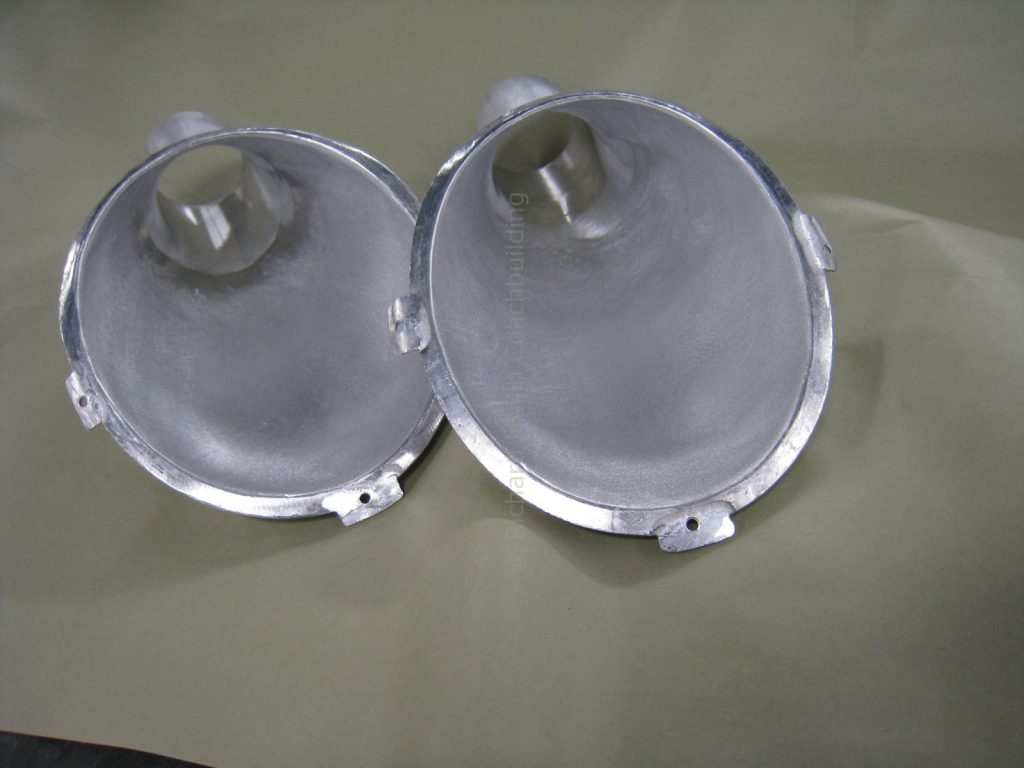 Porsche Race Car Headlamp Air Intake Ducts