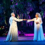 Oberon (with Phylicia Rashad as Titania) in A Midsummer Nights Dream, Delacorte Theatre, Central Park