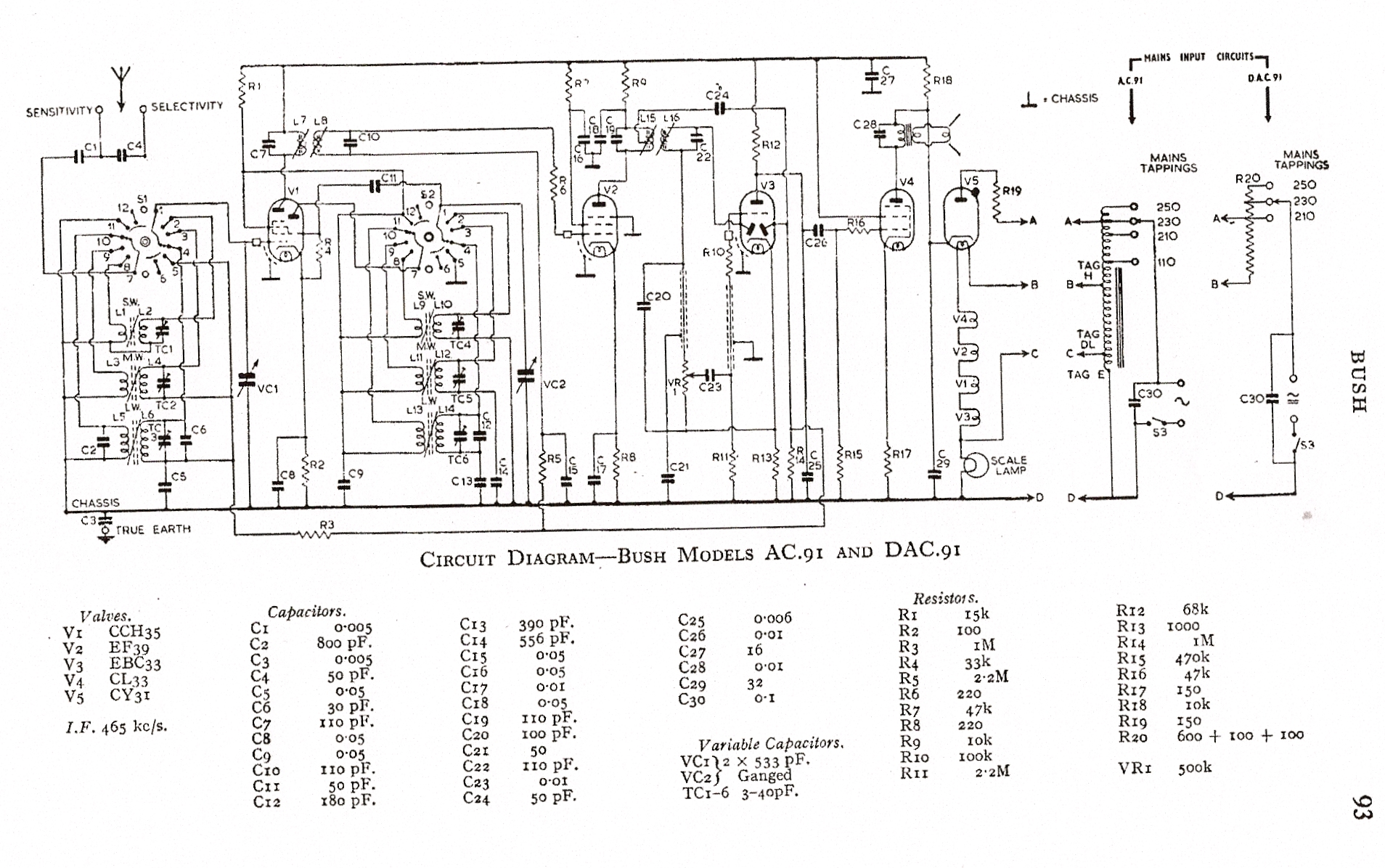Bush AC91 Schematic