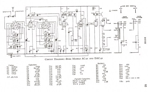 small resolution of bush ac91 schematic