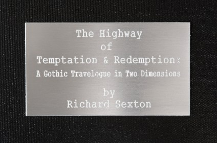 Highway of Temptation and Redemption: title plate